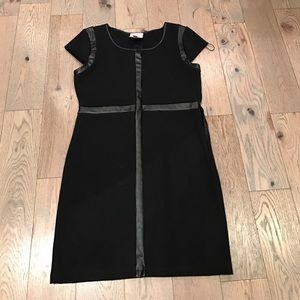 Dresses & Skirts - Black leather accented dress