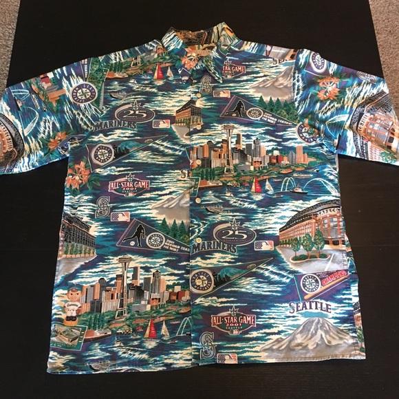 8da59752 VINTAGE Mariners x Reyn Spooner 2001Hawaiian Shirt.  M_591d0d547fab3a7e3101423e