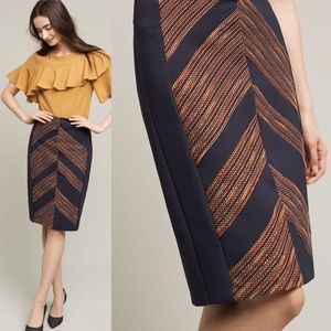 Anthropologie Dresses & Skirts - Anthropologie Metallic Pencil Chevron Skirt