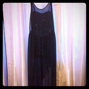 BCBG size 0  navy blue flirty night gown