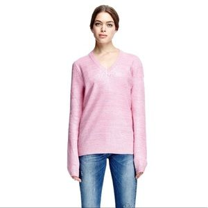 Carven Sweaters - Carven Coated Mohair-Blend V-Neck Sweater
