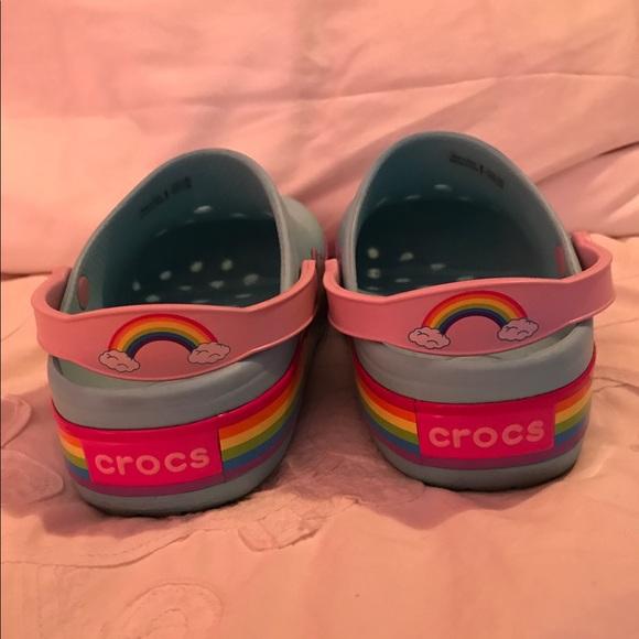 80 Off Crocs Other Girls Light Up Rainbow 🌈 Crocs Size
