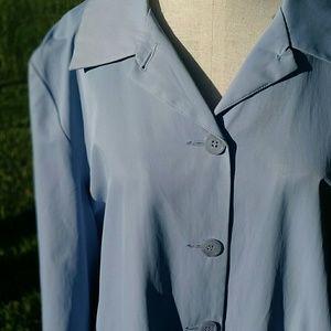 Weatherproof Jackets & Blazers - WATERPROOF Periwinkle Blue Raincoat sz XL 16-18