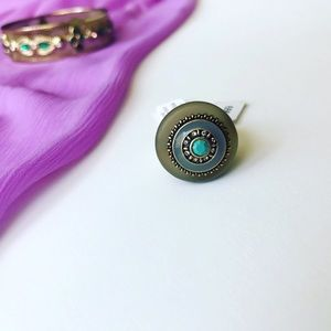Lia Sophia Jewelry - Teal Stone Olympus Ring! Size 7