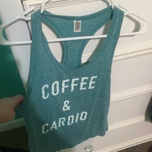 Saks Fifth Avenue Tops - Coffee and cardio heathered tank