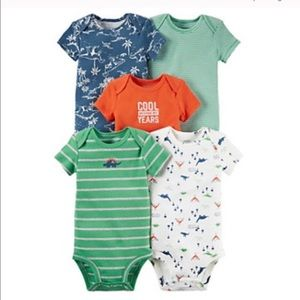 Carter's Other - Baby Boy Carter's 5-Pk. Dino & Striped Bodysuits