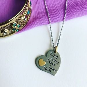 Lia Sophia Jewelry - Silver and Gold Delicate Heart Necklace!