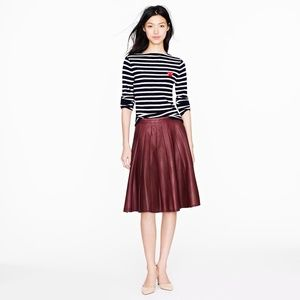 J. Crew Dresses & Skirts - J Crew Collection Leather Skirt Size 6
