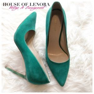 Nine West Shoes - NINE WEST Tatiana Green Suede Heel