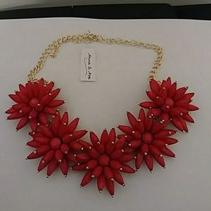 Anna & Ava Jewelry - MSensational Blooming Red necklace and earings🌹🌹