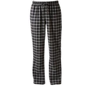 New Apt 9 Men's Plaid Flannel Lounge Pants - Small