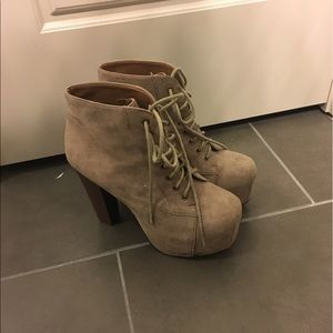 Platform Lace up Booties