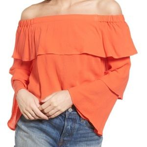 Tiered Ruffle Off the Shoulder Top