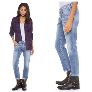 Goldsign Denim - GOLDSIGN Hisjeans Cropped Boyfriend Jeans