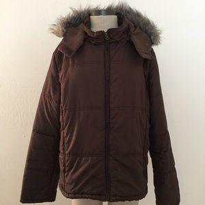 Jackets & Blazers - Puffer Coat with Detachable Hood