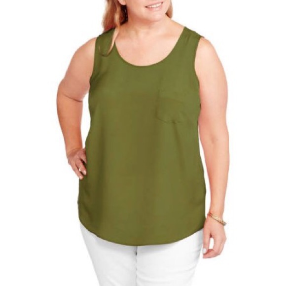 Faded Glory Faded Glory Women S Plus Size Woven Tank Top