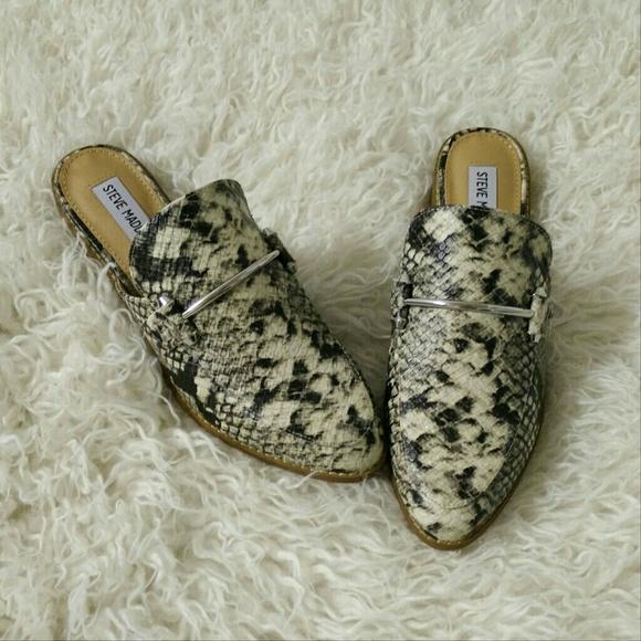 1ee35f8d6e1 Steve Madden Snake Loafer Mule Backless Slides NWT