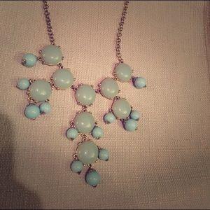 Mint/blue gold bubble necklace