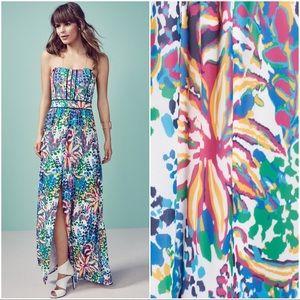 Adelyn Rae Dresses & Skirts - 💙Adelyn Rae Floral Print Slit Chiffon Maxi Dress