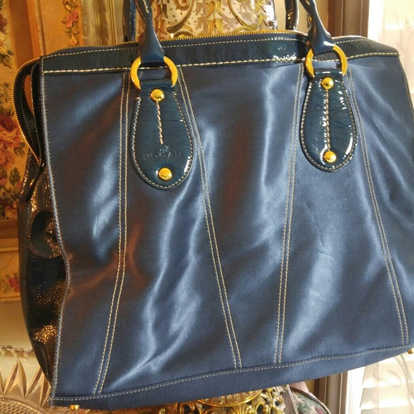 Leather And Nylon Large Tote 56