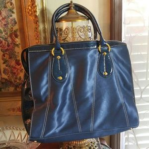 Hogan Handbags - HOGAN Leather and Nylon Large Tote/ FLASH SALE