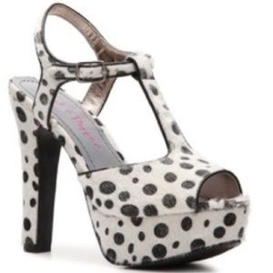 Pink & Pepper Shoes - Pink and Pepper Faux Pony Hair Polka Dotted Shoes