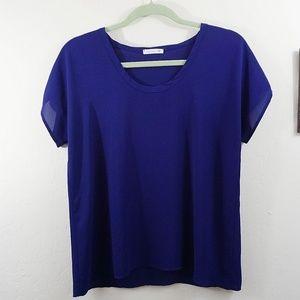 Soprano Tops - Soprano Royal Purple Blouse Size S
