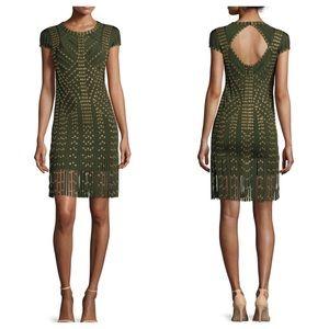 Herve Leger Dresses & Skirts - Herve Leger Cap Sleeve Grommet Fringe Dress NWT M