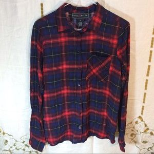 Polly & Esther Tops - Polly & Esther's love flannel shirt