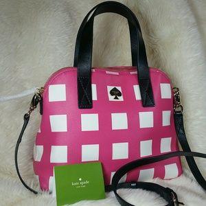 kate spade Handbags - Kate Spade Checker Place Maise Crossbody Satchel
