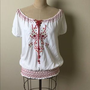 Angie Tops - Angie embroidered top