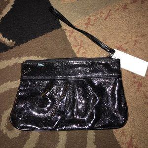 icing Handbags - Nwt glitter wristlet with top zipper