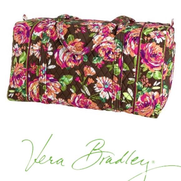 a65689ecc4 Vera Bradley big duffle in English Rose. M 591d431a620ff7a66201f750