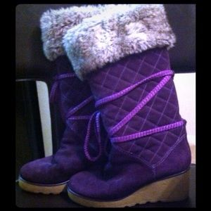 MARC JACOBS FUR WEDGE BOOT