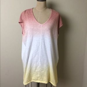 Anthropologie ombré loose fit tunic top