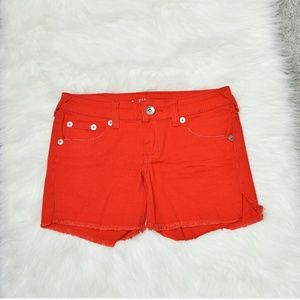 Pants - Adorable Red Jean Shorts