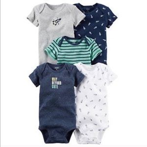 Carter's Other - Baby Carter's 5Pk Space Print & Graphic Bodysuits