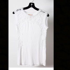 Alberta Ferretti Tops - Alberta Ferretti White sleeveless tshirt S