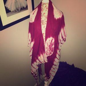 Accessory Collective Accessories - Berry Tie-Dye Open Kimono