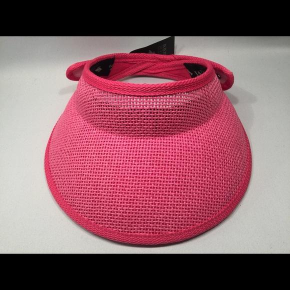 d7c469fbe7c Peter Grimm Vivian Sun Visor Women's Pink Hat NWT