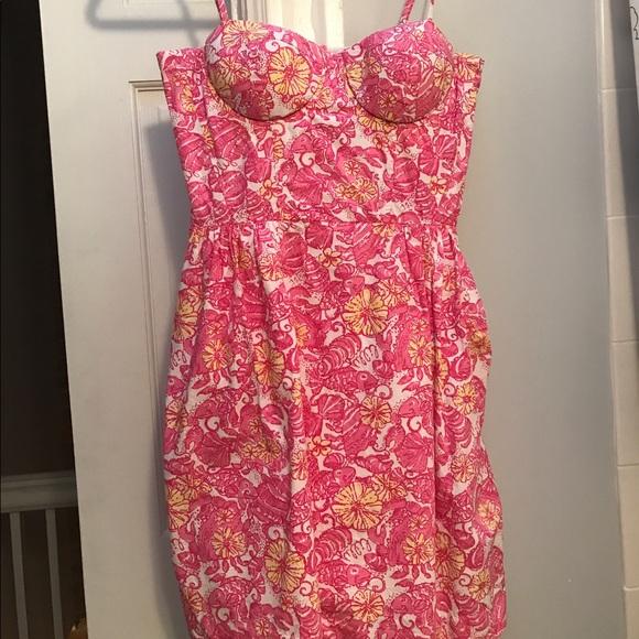 c02bc4ba0e7eda Lilly Pulitzer Dresses | Georgie Dress In Chum Bucket Size 2 | Poshmark