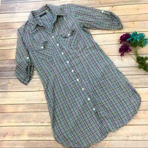 Lux Dresses & Skirts - LUX Plaid Shirt Dress Medium