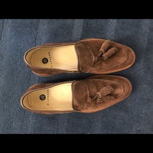 H By Hudson Other - Chocolate Suede Tassel Loafers