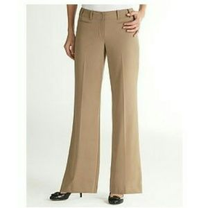Ann Taylor Loft Khaki Dress Pants 6 NWT Flare Boot