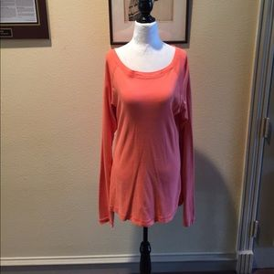 Long Elegant Legs Tops - LEL PRETTY LIGHTER ORANGE TOP VERY SOFT SIZE L