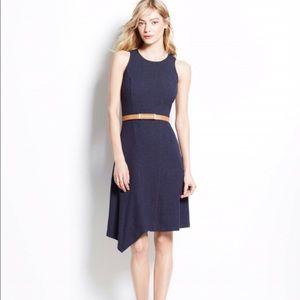 Ann Taylor Dresses & Skirts - 💲⬇️Ann Taylor Asymmetrical Fit & Flare Navy Dress