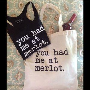 SoShelbie Handbags - ' You had me at Merlot' tote