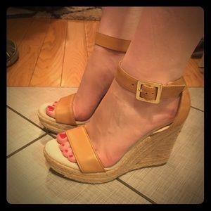 Michael Kors Shoes - Tan Michael Kors sandals wedges