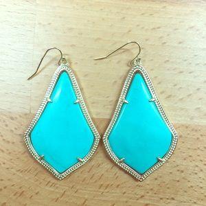 Kendra Scott Jewelry - Kendra Scott Alexandra Turquoise Gold Earrings