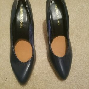 Newport News Shoes - Navy blue heels. Size 5